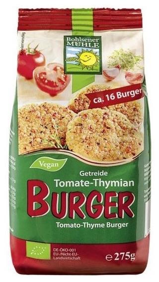 Mix bio pentru burgeri cu cereale, rosii si cimbru, 275g