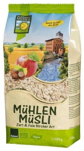 Musli Bio macinat fin cu mere si alune, 500g 0