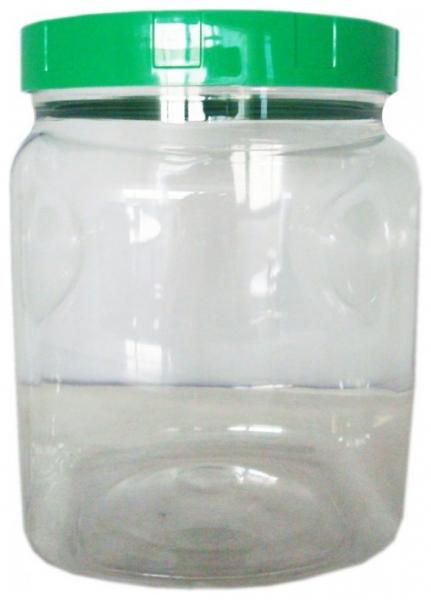 Borcan din plastic alimentar, 2000 ml 0