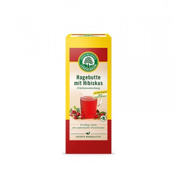 Ceai BIO de măceșe si hibiscus, 20*2,5gr 0