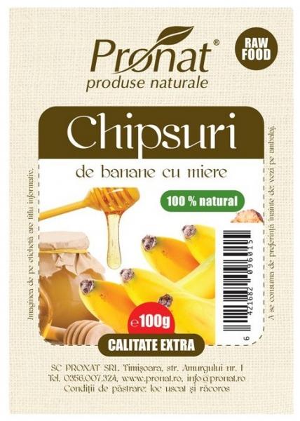 Chipsuri de banane cu miere 100g 0