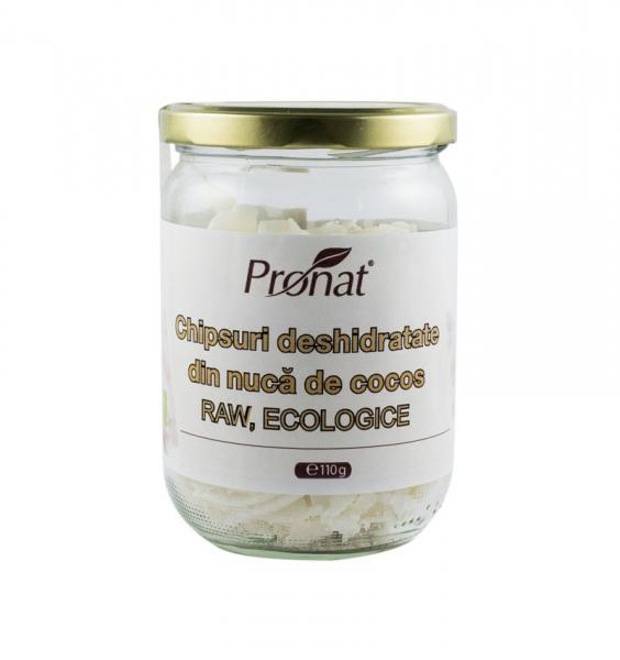 Chipsuri deshidratate din nuca de cocos, Raw Bio, 110 g 0