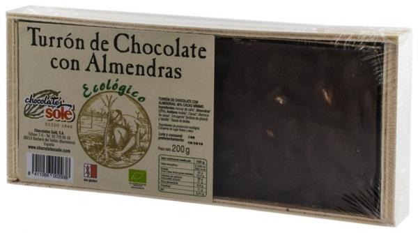 Ciocolata BIO Turron cu migdale, (minim 30% continut de cacao) 200 g 0