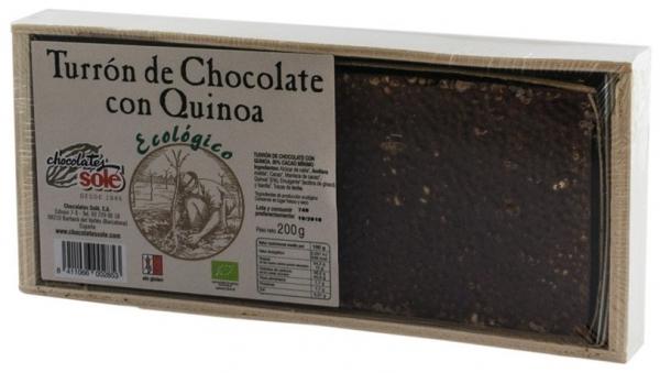 Chocolates Sole – Ciocolata BIO Turron cu quinoa, (minim 30% continut de cacao) 200 g 0
