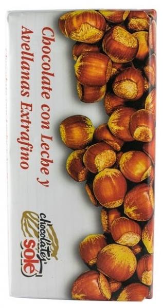 Ciocolata extrafina cu lapte si Alune de Padure 150 g 0
