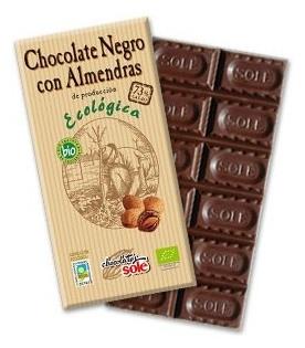 Ciocolata neagra BIO 73% cacao, cu migdale Chocolates Sole, 150 gr 0