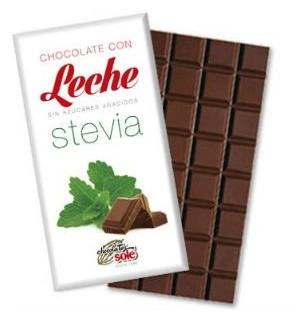 Ciocolata cu Lapte indulcita cu STEVIA (mai putine calorii) 100 gr 0