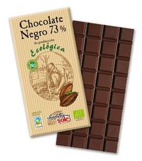 Ciocolata neagra BIO 73% cacao Chocolates Sole 100 gr 0