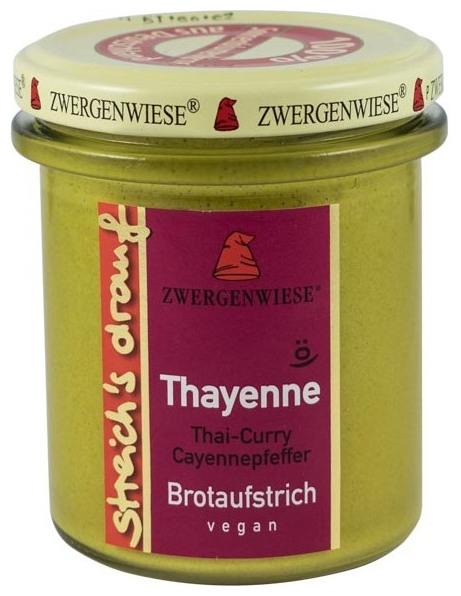 Crema tartinabila bio vegetala cu piper Cayenne- Thayenne, 160g 0