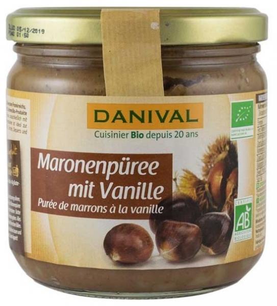 Danival – crema bio de castane cu vanilie, 380g [0]