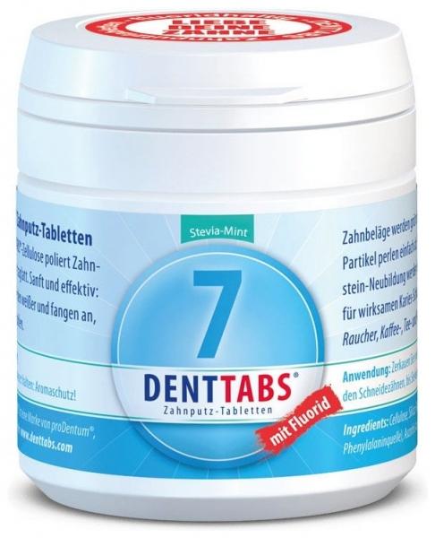 Tablete pentru curatarea dintilor cu menta si stevie, cu fluor – 125 tablete 0
