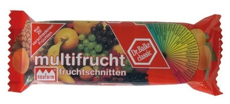 Baton cu multifruct, 100 g 0