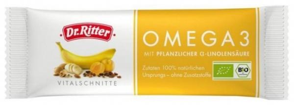 Baton BIO Omega 3 cu seminte de In, Caise, Miere, Alune 40 gr [0]