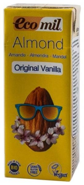Bautura BIO de migdale cu vanilie indulcita cu sirop de agave, original,  200 ml, cu pai 0