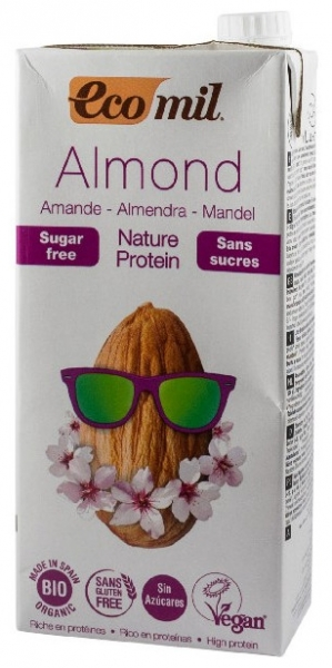 Bautura BIO de migdale natur protein, fara zahar, 1L 0