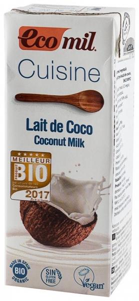 ECOMIL CUISINE– Crema vegetala Bio pentru gatit pe baza de cocos, 200 ml 0