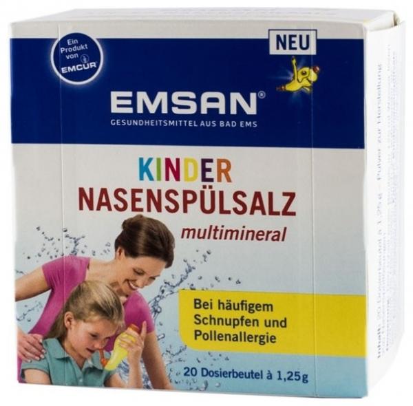 EMSAN - Solutie pentru spalaturi nazale cu multiminerale, pentru copii  20 plicuri a cate 1,25 0
