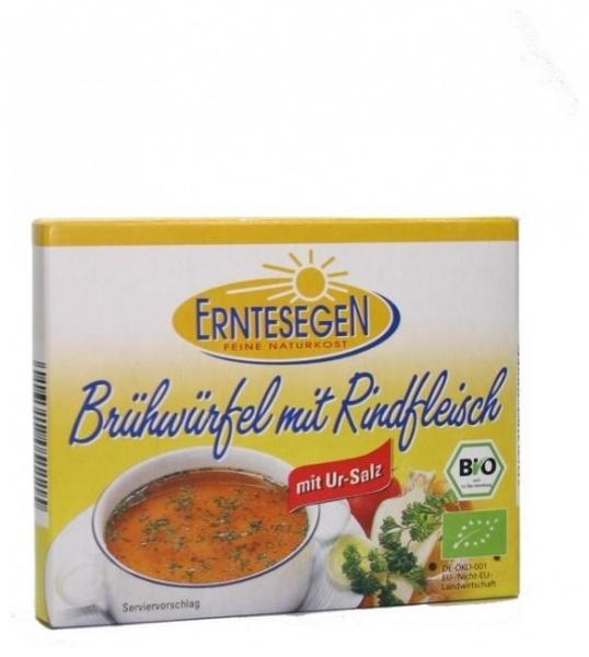 Erntesegen – Cuburi Bio pentru supa, cu carne de vita, 72g (6x12g) 0