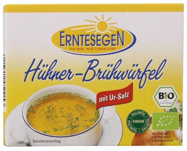 Erntesegen – Cuburi Bio pentru supa, cu pui, 66g (6x11g)