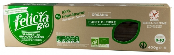 Spaghetti BIO din faina de hrisca, 400gr 0