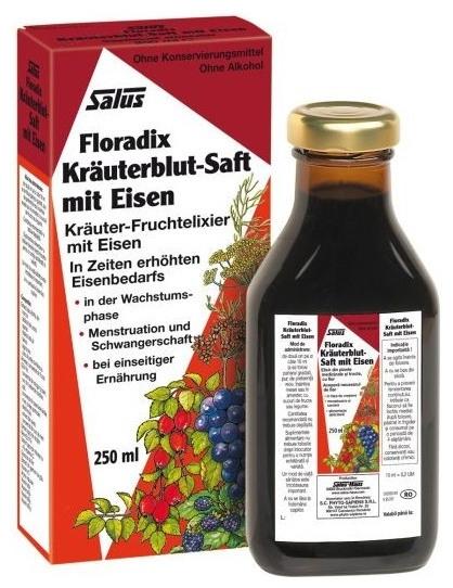 Floradix Elixir bio cu fier 250ml SALUS HAUS 0