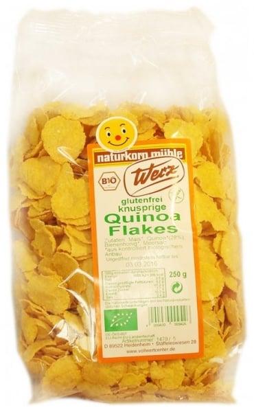 Fulgi Bio de quinoa integrala, fara gluten, 250 g [0]