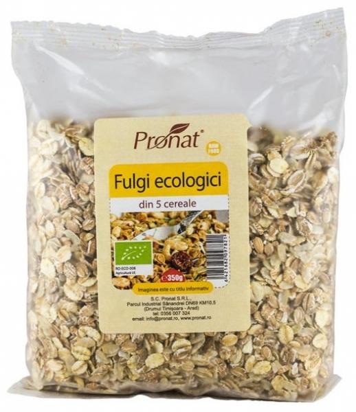 Fulgi din 5 cereale Bio, 350gr 0