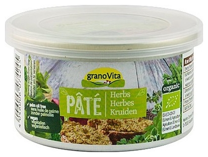Grano Vita - Pate bio cu ierburi aromatice, 125g 0