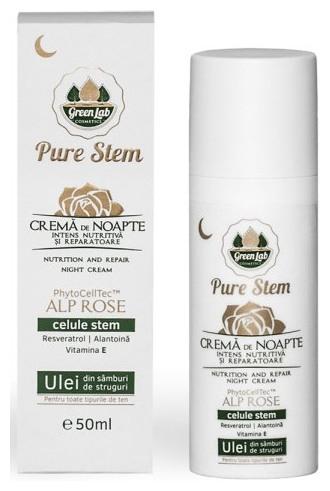 Green Lab - Crema de noapte intens nutritiva si reparatoare Pure Stem, 50ml