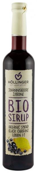 Hollinger – Sirop BIO din coacaze negre cu lamaie, 0,5 L 0