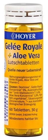 HOYER - Gelee Royale + Aloe vera -  Tabelete masticabile Bio, 60 tb 0
