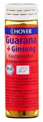 Guarana si Ginseng BIO 60 tablete masticabile cu cafeina. Energie instant! 0