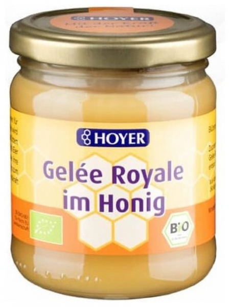 Hoyer - Miere Bio cu laptisor de matca, 250g 0