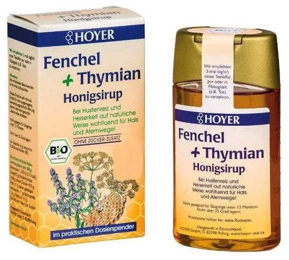 Hoyer – Sirop de tuse cu miere cu  fenicul si cimbru 250g 0