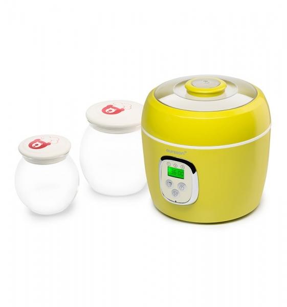 Iaurtiera-fermentator Oursson FE0205D/GA, 2 vase de sticla, 1L si 2L, Afisaj LED,  Verde 0