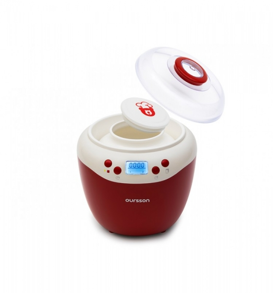 Iaurtiera-fermentator Oursson FE2103D/RD, afisaj LED, 2 programe, 2 L, Protectie la supraincalzire, Rosu 0