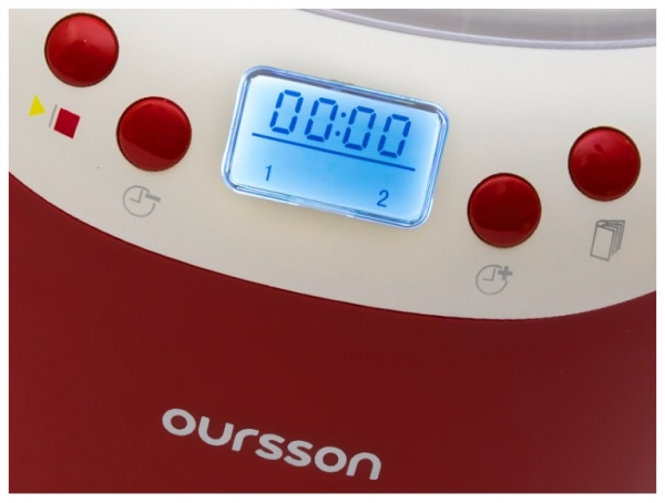 Iaurtiera-fermentator Oursson FE2103D/RD, afisaj LED, 2 programe, 2 L, Protectie la supraincalzire, Rosu 2