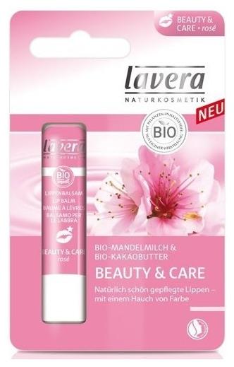 Balsam de buze roze pentru ingrijire si frumusete cu lapte de migdale si unt de cacao 4,5g 0