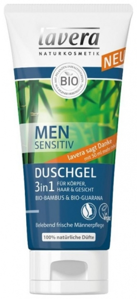 MEN Sensitiv – Gel de dus 3 in 1, 200 ml 0