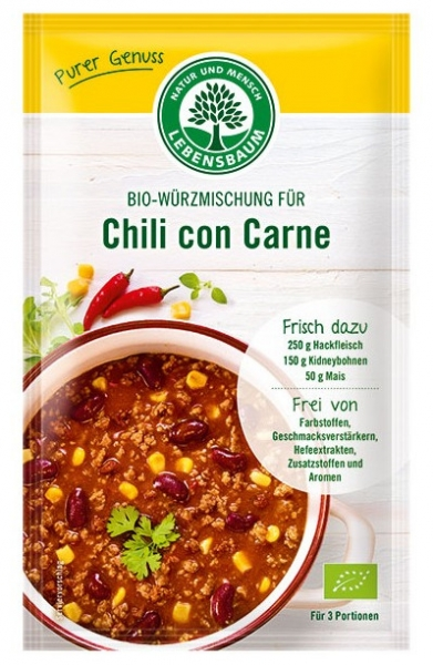 Amestec BIO de condimente pentru Chili con Carne, 30g 0