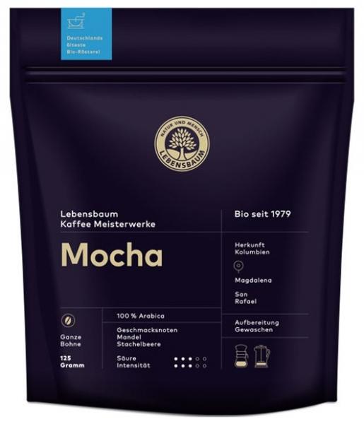 Cafea boabe BIO Mocha, 125g 0