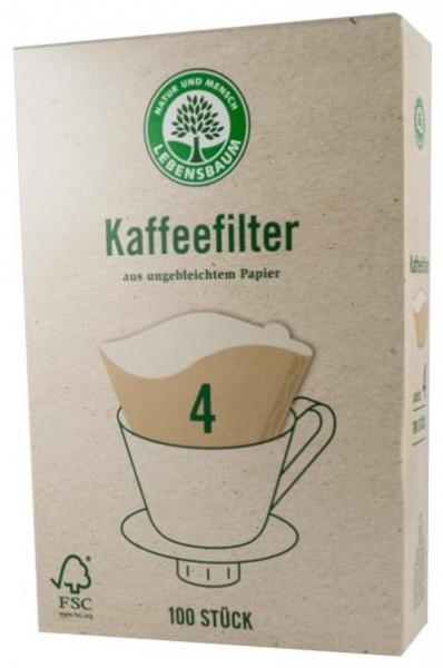 Filtre pentru cafea, Gr. 4, 100 bucati [0]