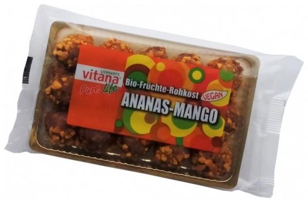 Bomboane din FRUCTE BIO Ananas + Mango (Fara Zahar) 120gr 0