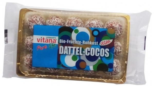 Bomboane din FRUCTE BIO Curmale + Cocos (Fara Zahar) 120gr 0