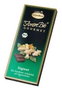 Ciocolata amaruie cu ghimbir, 55% cacao, 100 g 0