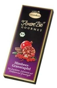 Ciocolata cu Rodie si Zmeura AMORE BIO Gourmet 100gr 0