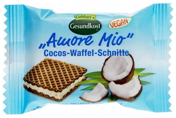 LIEBHART'S AMORE MIO – Specialitate de napolitane cu cocos, 19 g 0