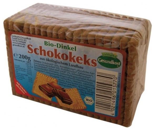 Biscuiti bio cu alac si ciocolata, 200 g 0
