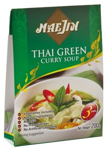 MaJin – Supa de curry Thai Green, 200 g 0
