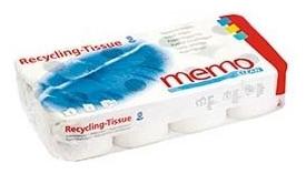 Memo Clean- hartie igienica din hartie reciclata cu 3 straturi, 8 buc